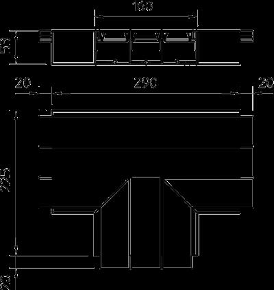 Схема Т-образная секция — арт.: 6116193