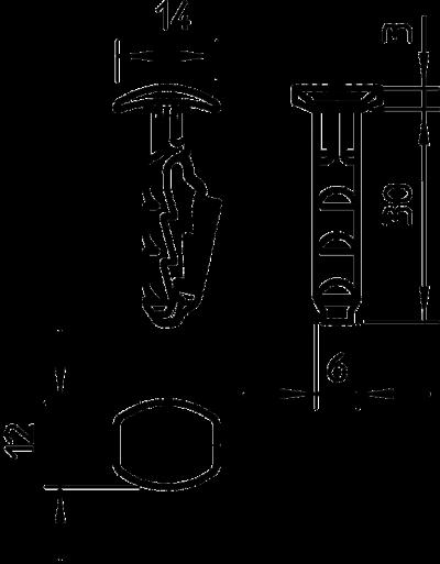 Схема Вставной дюбель — арт.: 2351412
