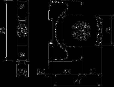 Схема Разрядник для защиты от перенапряжений V20 1-полюсный, 550 В — арт.: 5095211