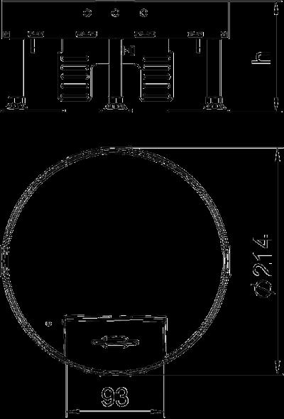 Схема Регулируемая кассетная рамка RKSR с кабельным выводом, из латуни — арт.: 7409252
