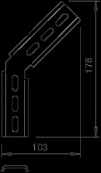 Схема Монтажный угол 45° — арт.: 6017320