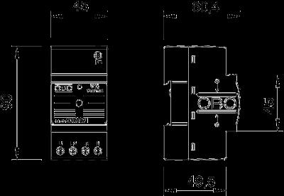 Схема Разрядник для защиты от перенапряжений V10 Compact, с акустической сигнализацией — арт.: 5093391