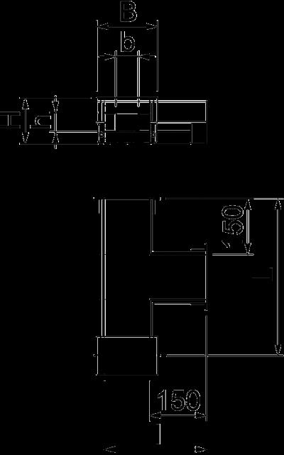 Схема Т-образная секция для кабельного канала с внутренней высотой 50 мм — арт.: 7215632