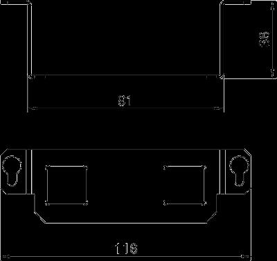 Схема Суппор для 2х телекоммуникационных модулей типа LE — арт.: 7407679