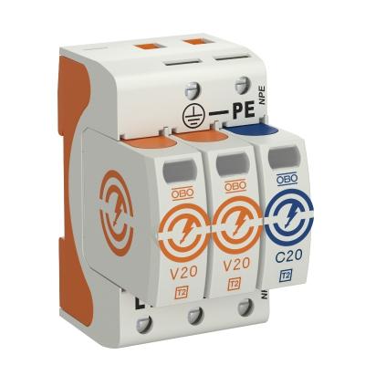 Разрядник для защиты от перенапряжений V20 2-полюсный + NPE, 150 В — арт.: 5095232
