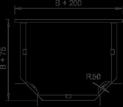 Схема Т-образная секция 50-300 мм — арт.: 6043410