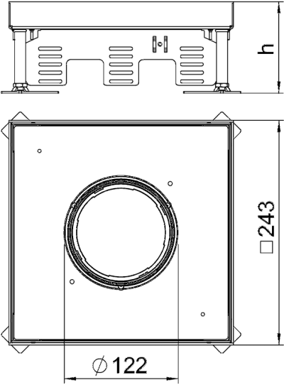 Схема Регулируемая кассетная рамка RKFN для тубуса, из нержавеющей стали — арт.: 7409368