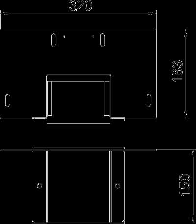 Схема Соединитель для настенного монтажа, класс огнестойкости I120 — арт.: 7216380
