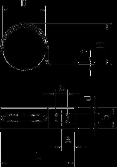 Схема Крепежная скоба стандартная, с одной лапкой — арт.: 1003038