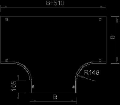 Схема Крышка Т-образной секции 400-600 мм — арт.: 7128282