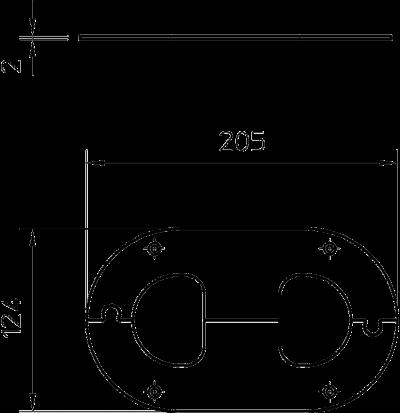 Схема Потолочная накладка для электромонтажной колонны ISST70140 — арт.: 6290200
