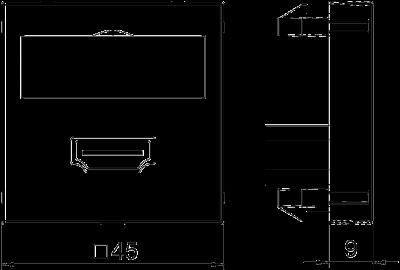 Схема Мультимедийная рамка с разъемом HDMI, ширина 1 модуль, с прямым выводом, с соединительным кабелем — арт.: 6104826