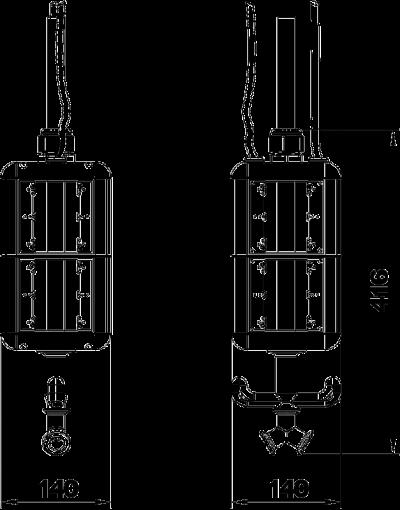 Схема Блок питания VH-8, пустой, с соединением для пневматического рукава — арт.: 6109825