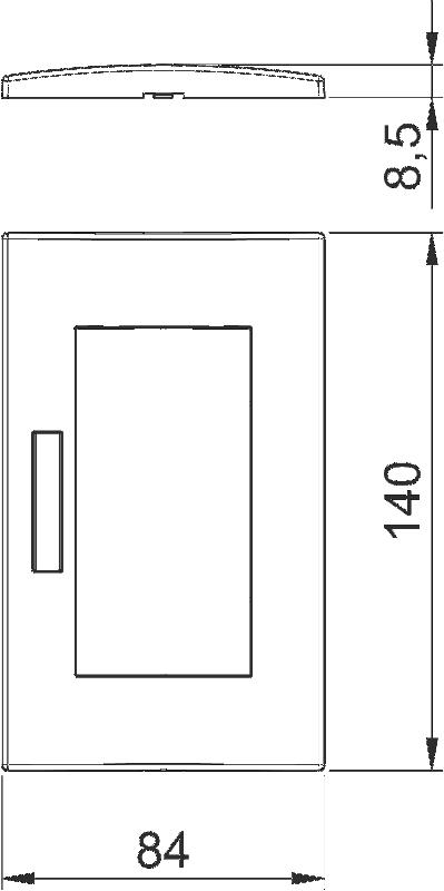 Схема Рамка AR45 двойная, с полем для надписи, для горизонтальной установки устройств — арт.: 6119352