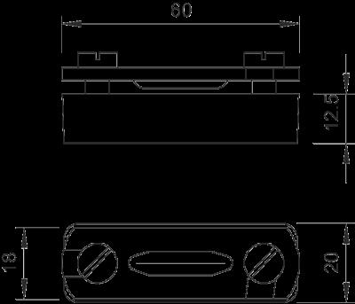 Схема Держатель для плоских проводников с основанием из полиамида — арт.: 5033039