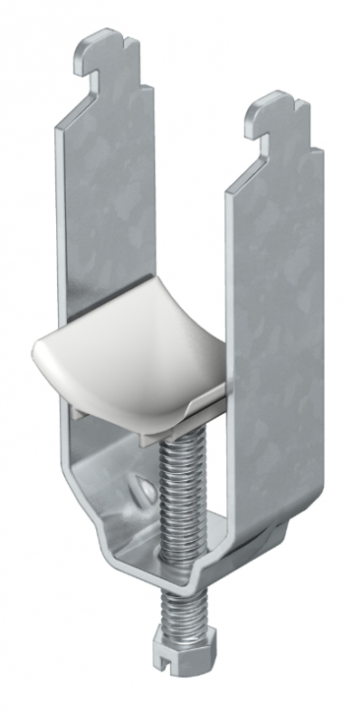 Зажимная скоба 2-секционная, с пластиковой прижимной пластиной — арт.: 1164120