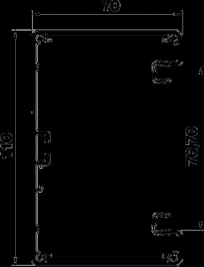 Схема Алюминиевый кабельный короб Rapid 80 высотой 70 мм — арт.: 6279203