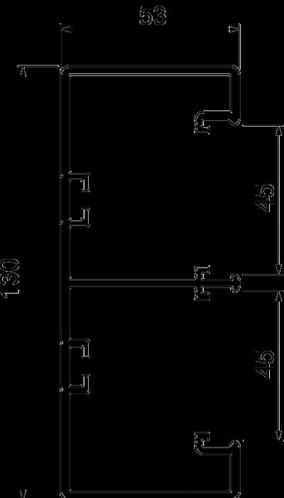 Схема Пластиковый кабельный короб Rapid 45-2, GK-53130 — арт.: 6113200