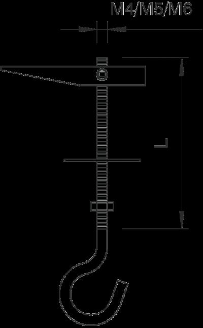 Схема Пружинно-откидной дюбель с потолочным крючком — арт.: 3482138
