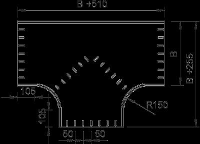 Схема Т-образная секция 400-900 мм — арт.: 7003390