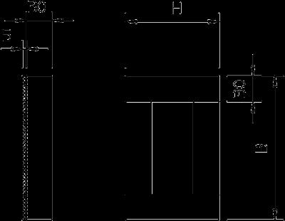 Схема Торцевая заглушка для кабельного канала с внутренней высотой 50 мм — арт.: 7215590