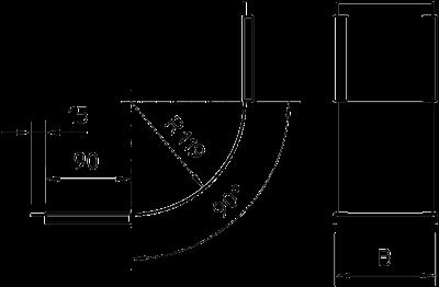 Схема Крышка вертикальной угловой секции 90° восходящей — арт.: 7130801