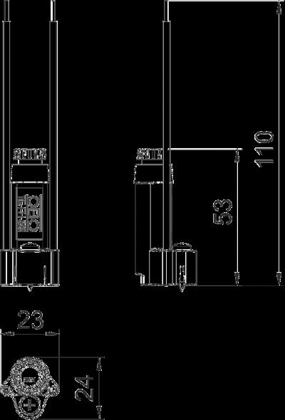 Схема Фиксатор для огнестойких распределительных коробок FireBox T-серии — арт.: 7205570