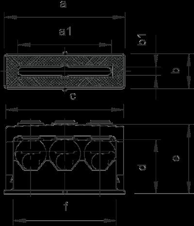 Схема Крепежная скоба ISO, тройная — арт.: 2109018