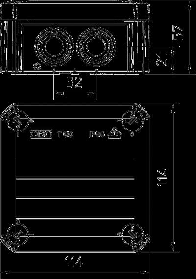 Схема Распределительная коробка Т-60 со вставным уплотнителем, трудновоспламеняемая — арт.: 2007339