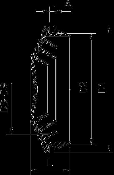 Схема Вставной уплотнитель для огнестойких распределительных коробок FireBox Т-серии — арт.: 7205675
