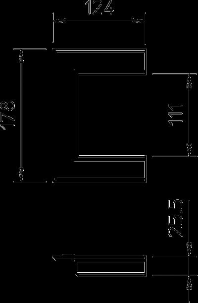 Схема Настенная торцевая заглушка из ПВХ, открытая, для кабельных коробов 90110 — арт.: 6274910
