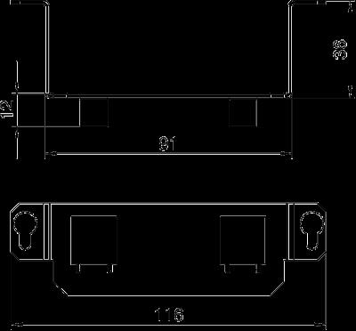 Схема Суппорт для 2х телекоммуникационных модулей типа F — арт.: 7407849