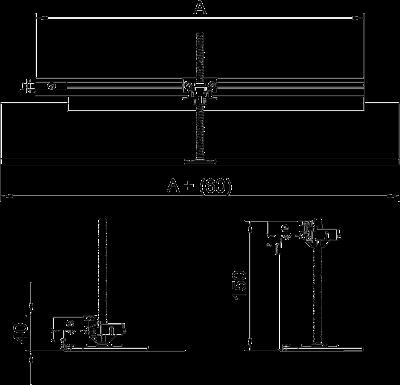 Схема Комплект для углового ответвления кабельного канала налево, высота 40 — 150 мм — арт.: 7423950
