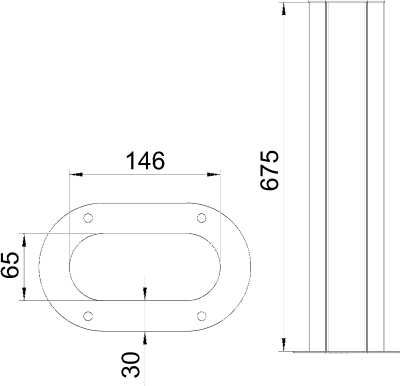 Схема Алюминиевая электромонтажная колонна ISSOGHS70140 — арт.: 6289096