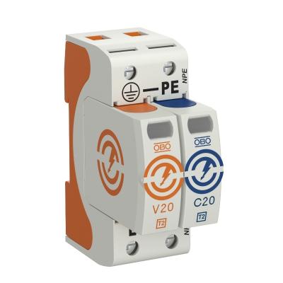 Разрядник для защиты от перенапряжений V20 1-полюсный + NPE, 75 В — арт.: 5095221
