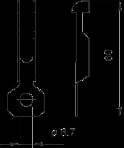 Схема Потолочный подвес для профильной рейки — арт.: 1486861