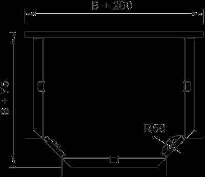 Схема Т-образная секция 100-300 мм — арт.: 7003633
