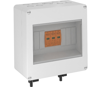Системное решение для защиты фотогальванических установок со штекером MC, в корпусе, с разрядниками типа 1+2, 600 В постоянного тока — арт.: 5088676