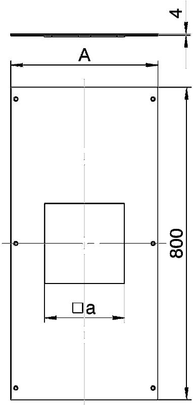 Схема Крышка с отверстием для лючка GES9, 800 мм — арт.: 7402064