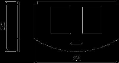Схема Суппорт для 2х телекоммуникационных модулей типа А — арт.: 7408802