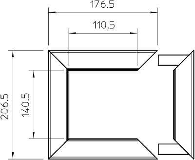 Схема Потолочная накладка для электромонтажной колонны ISS140110 — арт.: 6290240
