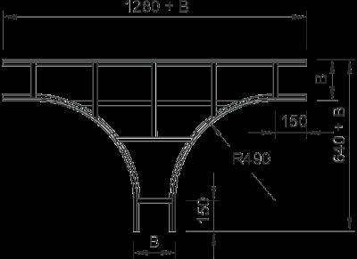 Схема Т-образная секция с перекладинами VS — арт.: 6213723