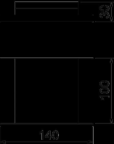 Схема Соединитель для настенного монтажа, класс огнестойкости I90, для кабельного канала с внутренней высотой 50 мм — арт.: 7215533