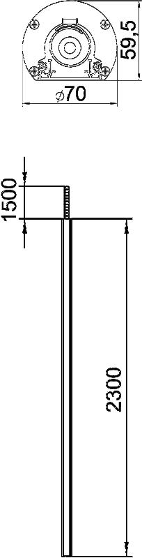 Схема Алюминиевая электромонтажная колонна ISSRM45F — арт.: 6290095