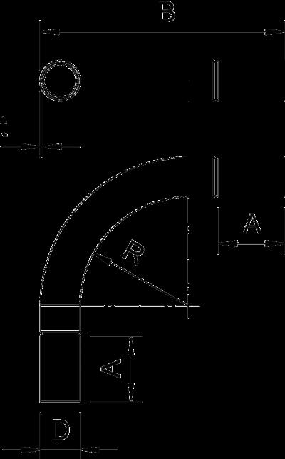 Схема Стальная дуга без резьбы — арт.: 2046824
