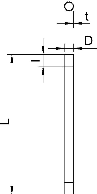 Схема Стальная панцирная труба с резьбой — арт.: 2046861