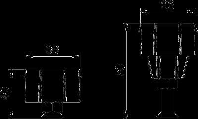 Схема Регулируемая опора крышки, для каналов высотой 40 — 70 мм — арт.: 7424840