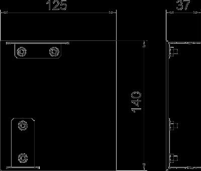 Схема Торцевая заглушка Style правая — арт.: 6115965