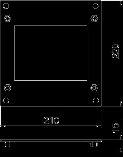 Схема Пластина для Т-образной секции — арт.: 7216364