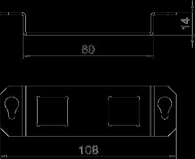 Схема Суппор для 2х телекоммуникационных модулей типа LE — арт.: 7407854